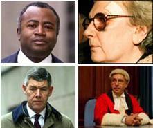 Courtenay Griffiths QC, Judge Ann Goddard, Mr Justice Moses, Richard Latham QC